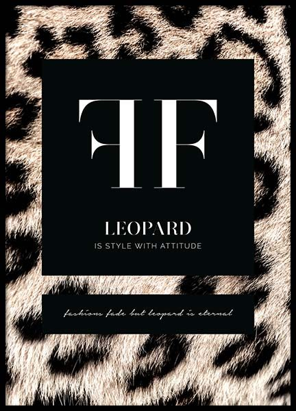 Leopard Fashion Poster in the group Posters & Prints / Text posters at Desenio AB (11619)