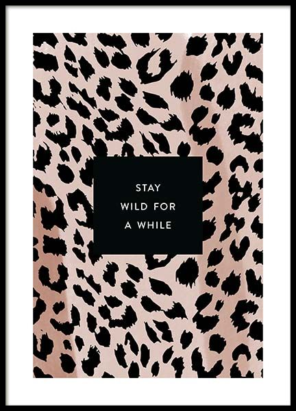 Stay Wild Poster in the group Posters & Prints / Text posters at Desenio AB (11621)