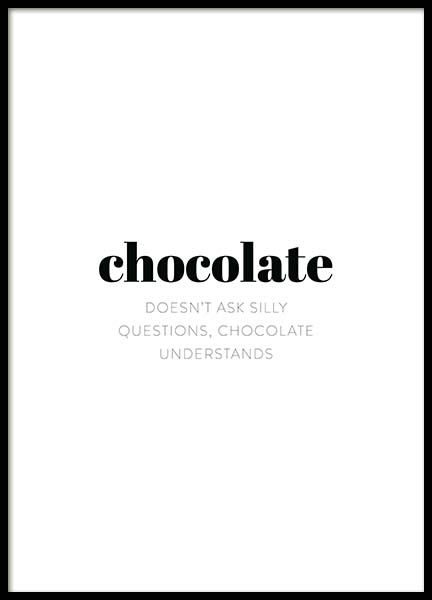 Chocolate Poster in the group Posters & Prints / Typography & quotes at Desenio AB (11626)