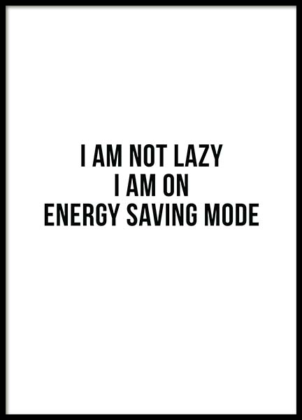 Energy Saving Poster in the group Posters & Prints / Sizes / 50x70cm | 20x28 at Desenio AB (11628)