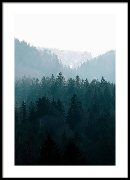 Deep Foggy Forest Poster in the group Posters & Prints / Nature at Desenio AB (11630)
