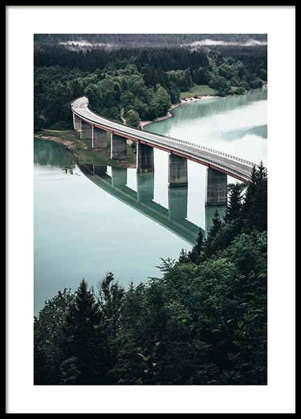 Bridge Over River Poster in the group Posters & Prints / Nature at Desenio AB (11631)