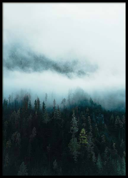 Mountain in Fog Poster in the group Posters & Prints / Nature at Desenio AB (11640)