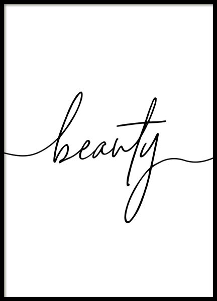 Beauty Script Poster in the group Posters & Prints / Text posters at Desenio AB (11651)