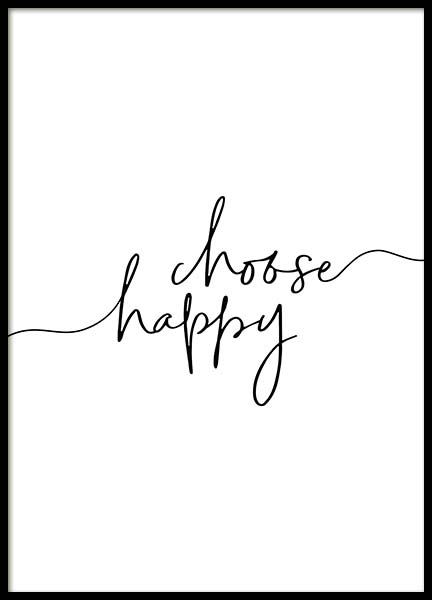 Choose Happy Poster in the group Posters & Prints / Typography & quotes at Desenio AB (11652)