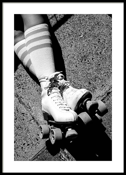 Rollerskates Poster in the group Posters & Prints / Black & white at Desenio AB (11677)