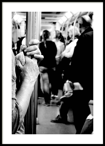 Subway Ride Poster in the group Posters & Prints / Sizes / 50x70cm | 20x28 at Desenio AB (11682)