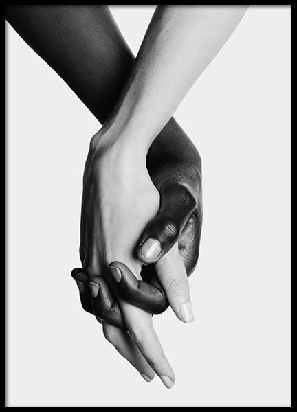 Holding Hands No2 Poster in the group Posters & Prints / Black & white at Desenio AB (11707)