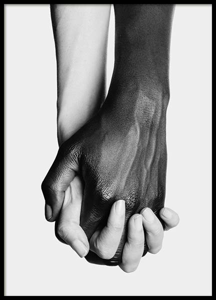 Holding Hands No3 Poster in the group Posters & Prints / Black & white at Desenio AB (11708)
