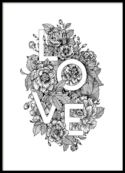 Blooming Love Poster in the group Posters & Prints / Typography & quotes at Desenio AB (11736)
