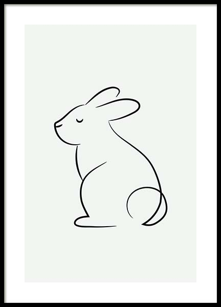Young Rabbit Poster in the group Posters & Prints / Sizes / 30x40cm | 12x16 at Desenio AB (11749)