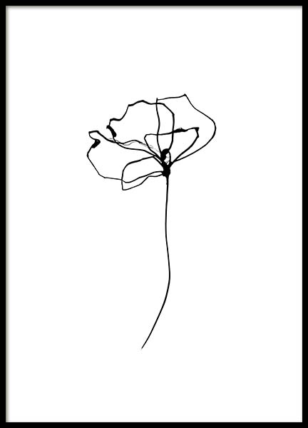 Line Flower No4 Poster in the group Posters & Prints / Sizes / 50x70cm | 20x28 at Desenio AB (11768)