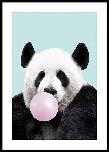 Bubblegum Panda Poster in the group Posters & Prints / Kids posters at Desenio AB (11770)
