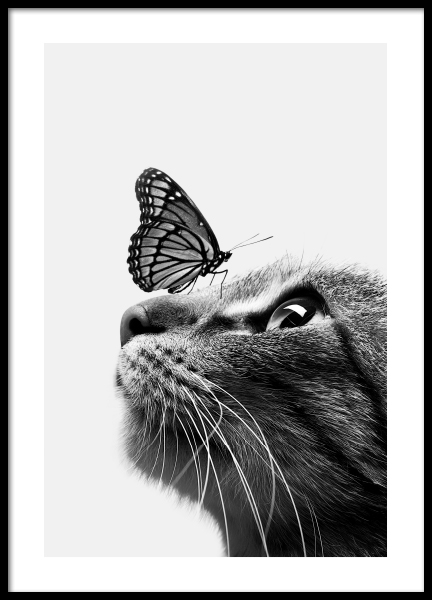 Butterfly Cat Poster in the group Posters & Prints / Kids posters at Desenio AB (11774)