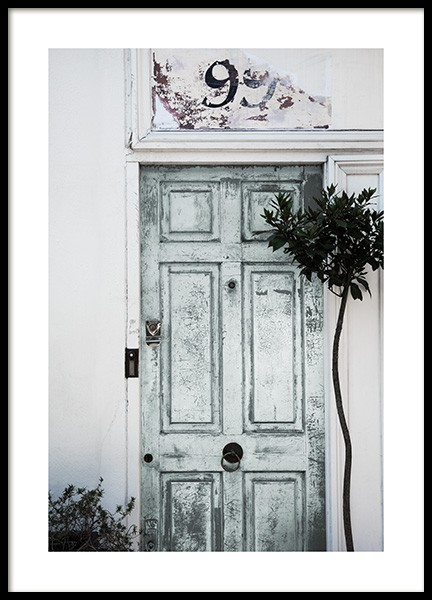 Vintage Mint Door Poster in the group Posters & Prints / Photography at Desenio AB (11811)