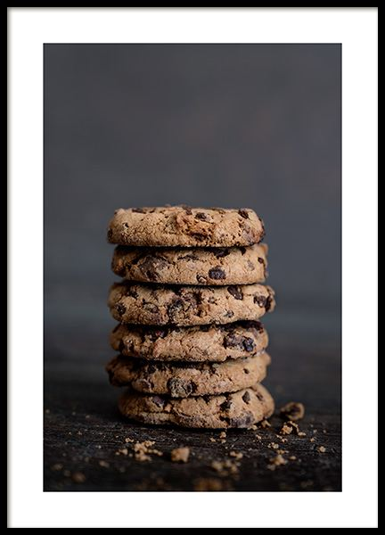 Chocolate Cookies Poster in the group Posters & Prints / Kitchen at Desenio AB (11826)