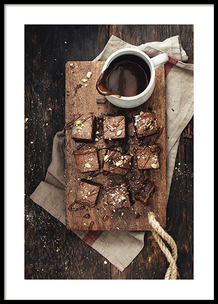 Chocolate Brownies Poster in the group Posters & Prints / Kitchen at Desenio AB (11827)