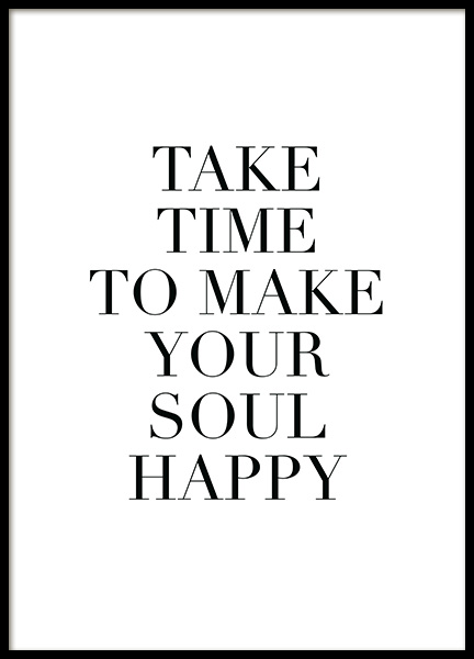 Make Your Soul Happy Poster in the group Posters & Prints / Text posters at Desenio AB (11847)
