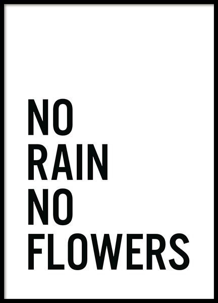 No Flowers Poster in the group Posters & Prints / Text posters at Desenio AB (11848)