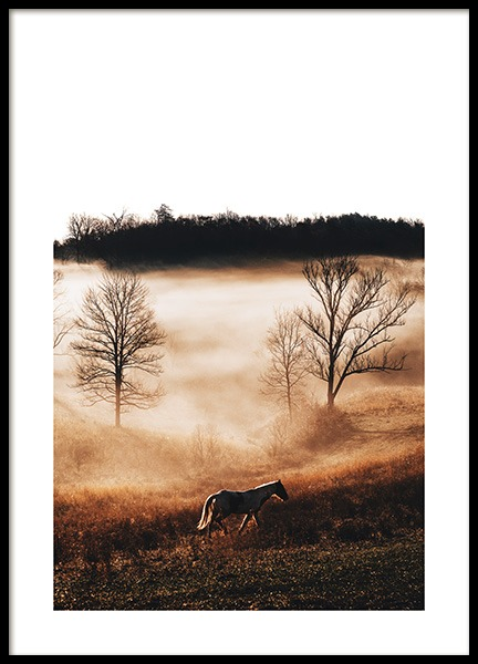 Horse in Landscape Poster in the group Posters & Prints / Photography at Desenio AB (11862)
