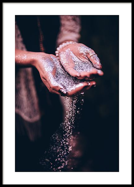 Glitter Hands Poster in the group Posters & Prints / Photography at Desenio AB (11883)