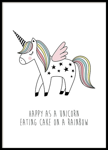 Cake on a Rainbow Poster in the group Posters & Prints / Kids posters at Desenio AB (11898)