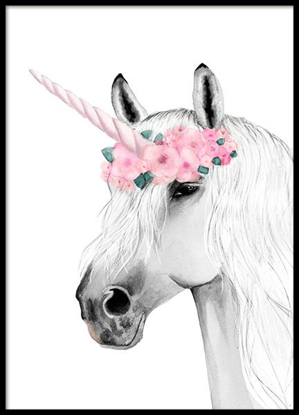 Unicorn Drawing Poster in the group Posters & Prints / Kids posters at Desenio AB (11903)