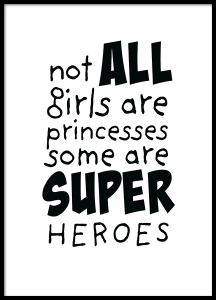Girls are Superheroes Poster in the group Posters & Prints / Kids posters at Desenio AB (11905)