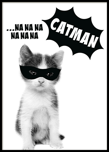 Catman Poster in the group Posters & Prints / Kids posters at Desenio AB (11906)