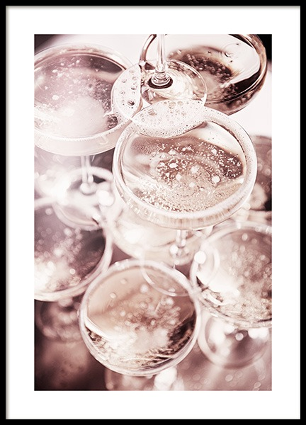 Champagne Blush Poster in the group Posters & Prints / Kitchen at Desenio AB (11919)