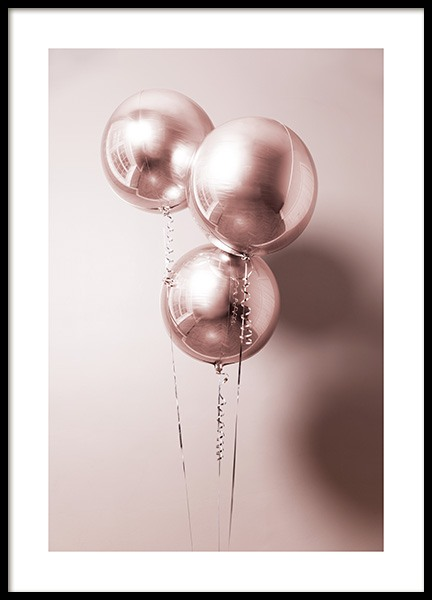 Rosé Balloons Poster in the group Posters & Prints / Sizes / 50x70cm | 20x28 at Desenio AB (11920)