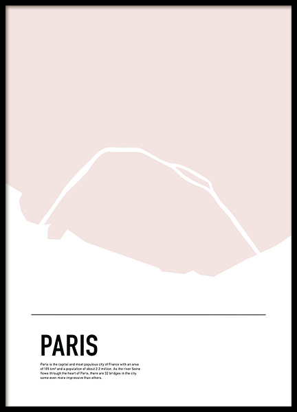 Graphic Map Paris Poster in the group Posters & Prints / Maps & cities at Desenio AB (11934)