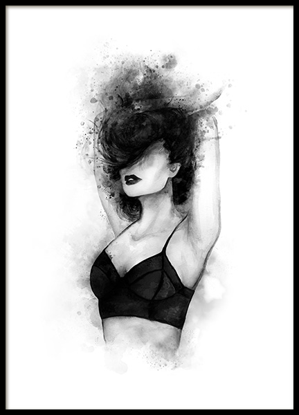 Black Top Poster in the group Posters & Prints / Black & white at Desenio AB (11943)