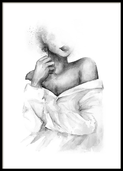 Shoulder Watercolor Poster in the group Posters & Prints / Black & white at Desenio AB (11944)