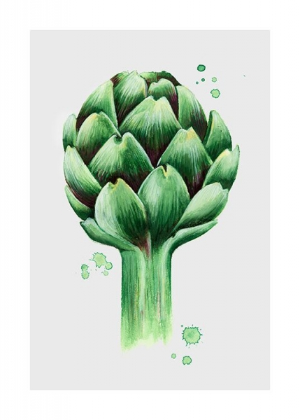 Artichoke watercolor Poster in the group Posters & Prints / Kitchen at Desenio AB (11959)
