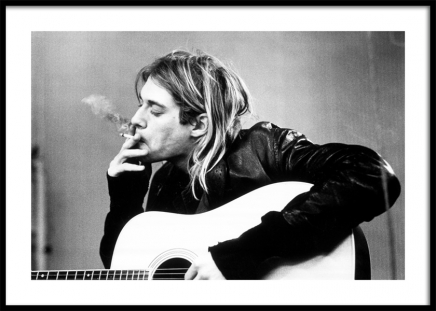 Kurt Cobain Poster in the group Posters & Prints / Black & white at Desenio AB (11966)