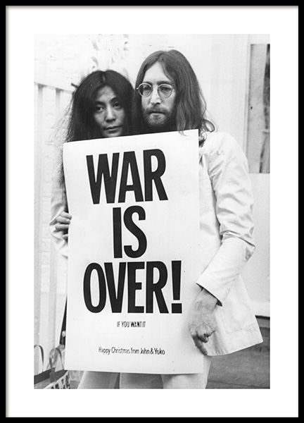 War is Over Poster in the group Posters & Prints / Black & white at Desenio AB (11970)