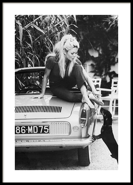 Brigitte Bardot Poster in the group Posters & Prints / Black & white at Desenio AB (11977)