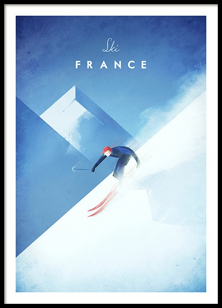 Ski France Poster in the group Posters & Prints / Handpicked / Henry Rivers at Desenio AB (11984)