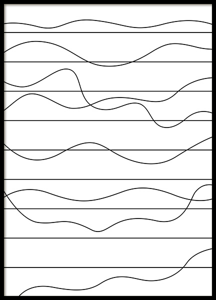 Ups and Downs Poster in the group Posters & Prints / Black & white at Desenio AB (11989)