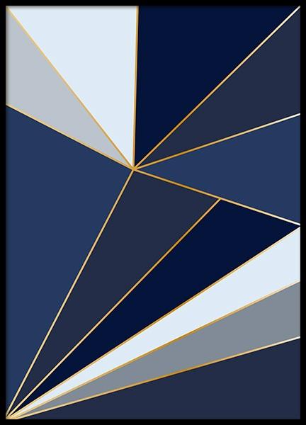 Blue Shards Poster