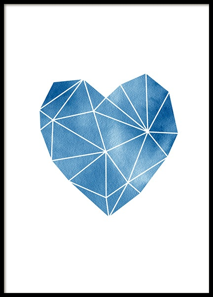 Geometric Watercolor Heart Poster in the group Posters & Prints / Graphical at Desenio AB (11993)