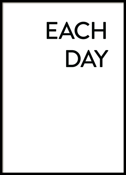 Each Day I Love You No1 Poster in the group Posters & Prints / Typography & quotes at Desenio AB (12008)