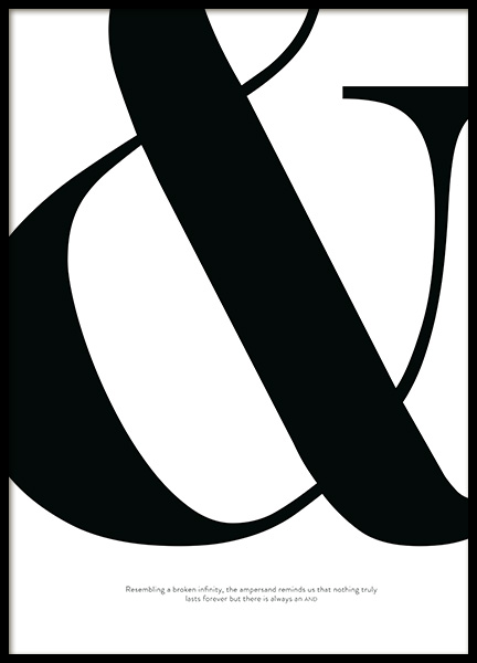 Didot Ampersand Poster in the group Posters & Prints / Text posters at Desenio AB (12011)