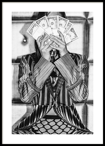 Flash Your Cash Poster in the group Posters & Prints / Black & white at Desenio AB (12025)