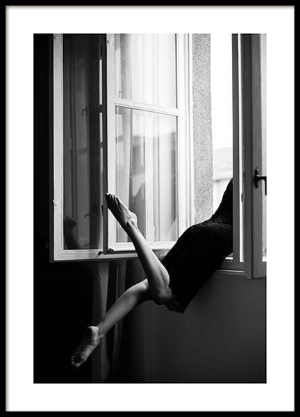 Out the Window Poster in the group Posters & Prints / Black & white at Desenio AB (12032)