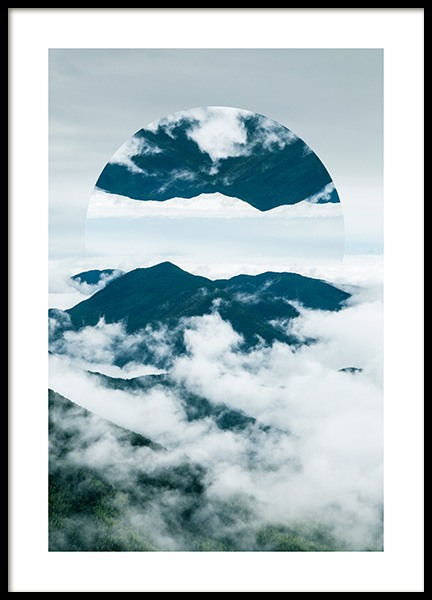 Floating Mountain No2 Poster in the group Posters & Prints / Nature at Desenio AB (12042)