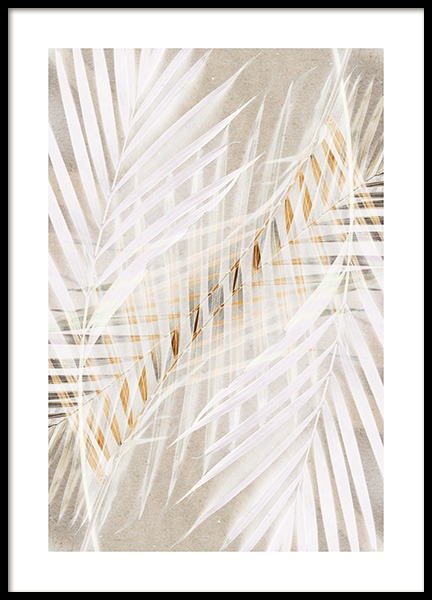 White Palm Leaves Poster in the group Posters & Prints / Photography at Desenio AB (12059)