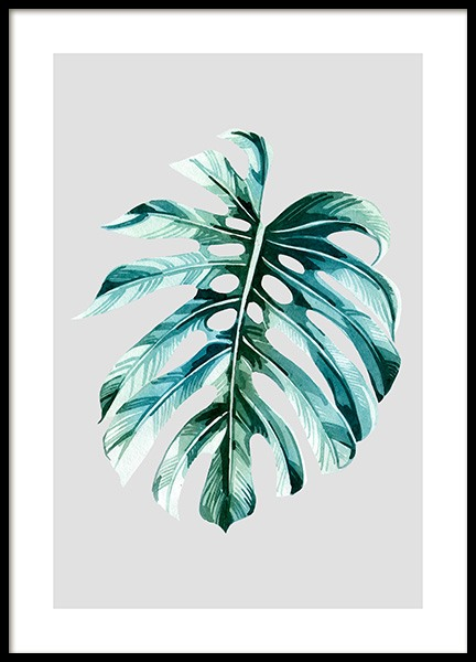 Watercolor Monstera Poster in the group Posters & Prints / Botanical at Desenio AB (12060)