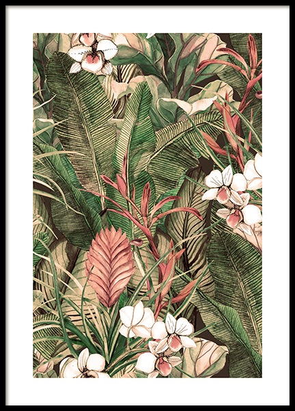 Botanical Pattern No1 Poster in the group Posters & Prints / Art prints at Desenio AB (12086)